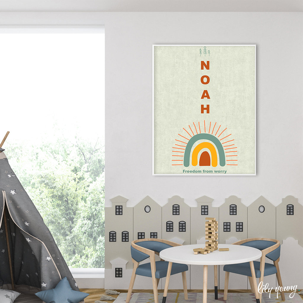 Boho Boy Wall Art