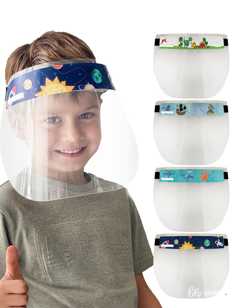 Dinosaur/Pirate Boy Face shields (Pack of 2)