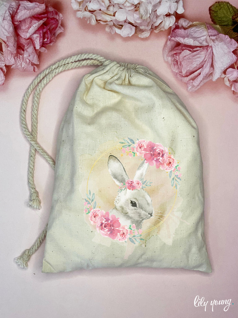 Bunny Draw string Bags - Pack of 12