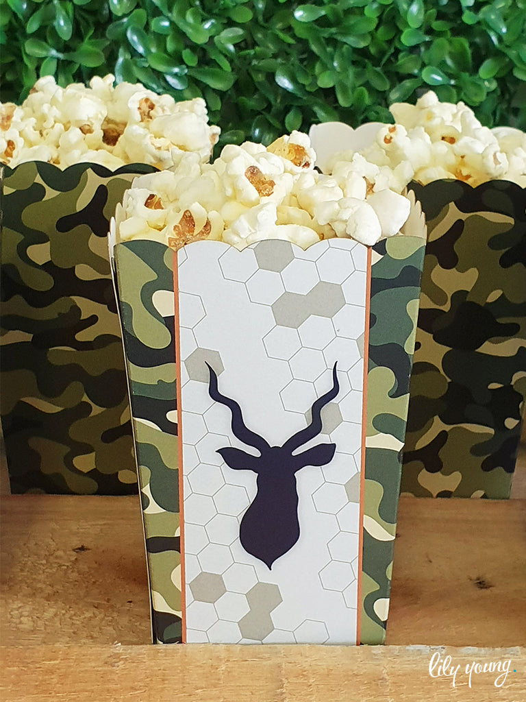 Camo Popcorn boxes - Pack of 12