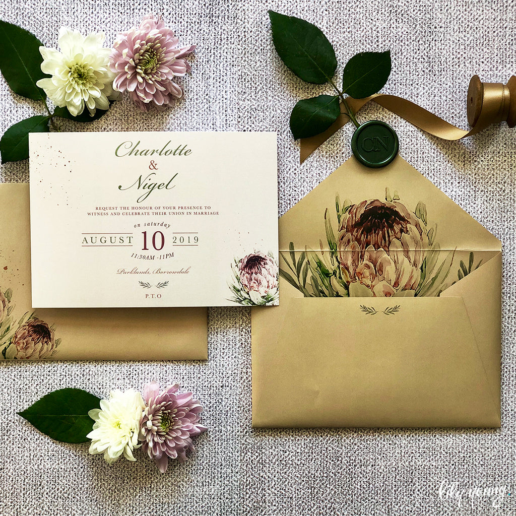 Charlotte Printed Invitation Suite