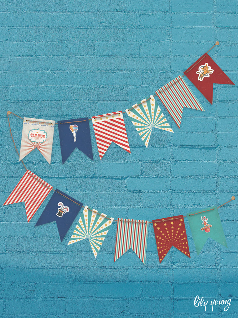 Circus Bunting - Pack of 1