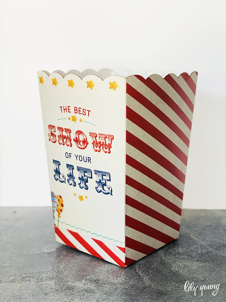 Circus Popcorn boxes - Pack of 12