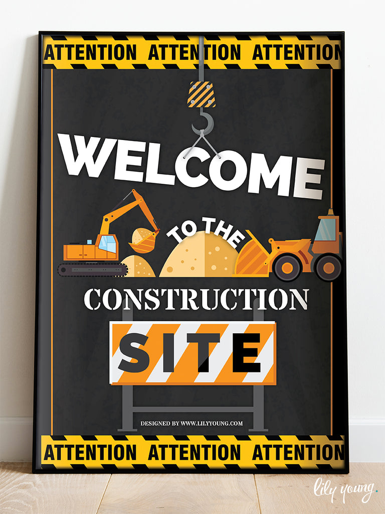 Construction Welcome Sign - Pack of 1