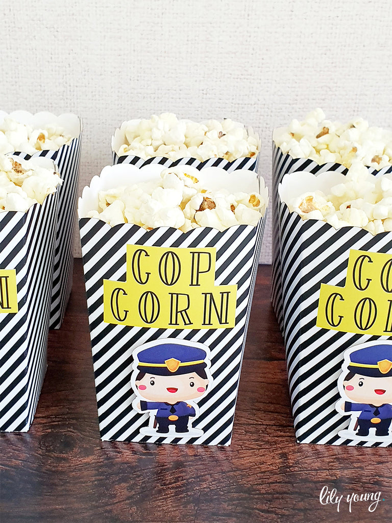 Cops & Robbers Popcorn boxes - Pack of 12