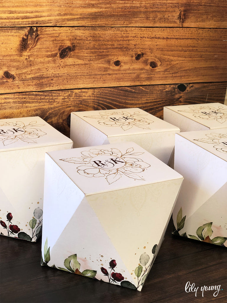 Diamond Floral Favour Boxes