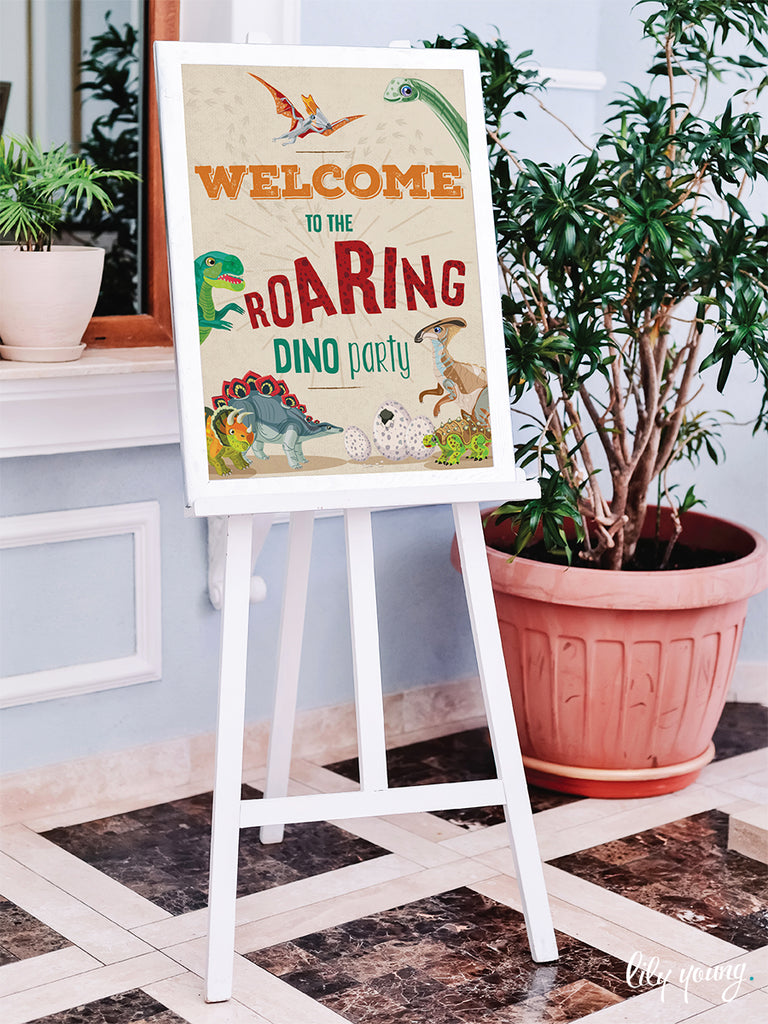 Dinosaur Welcome Sign - Pack of 1