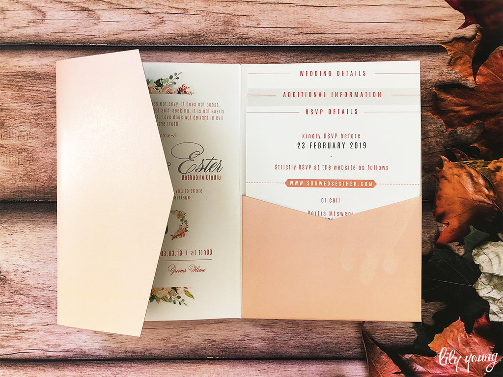Ester Printed Invitation Suite