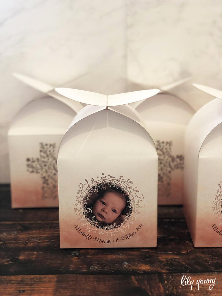 Blush Pink Favour Boxes - Pack of 12