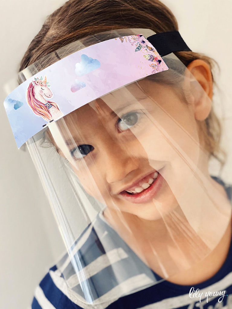 Princess/Floral Girl Face shields (Pack of 2)