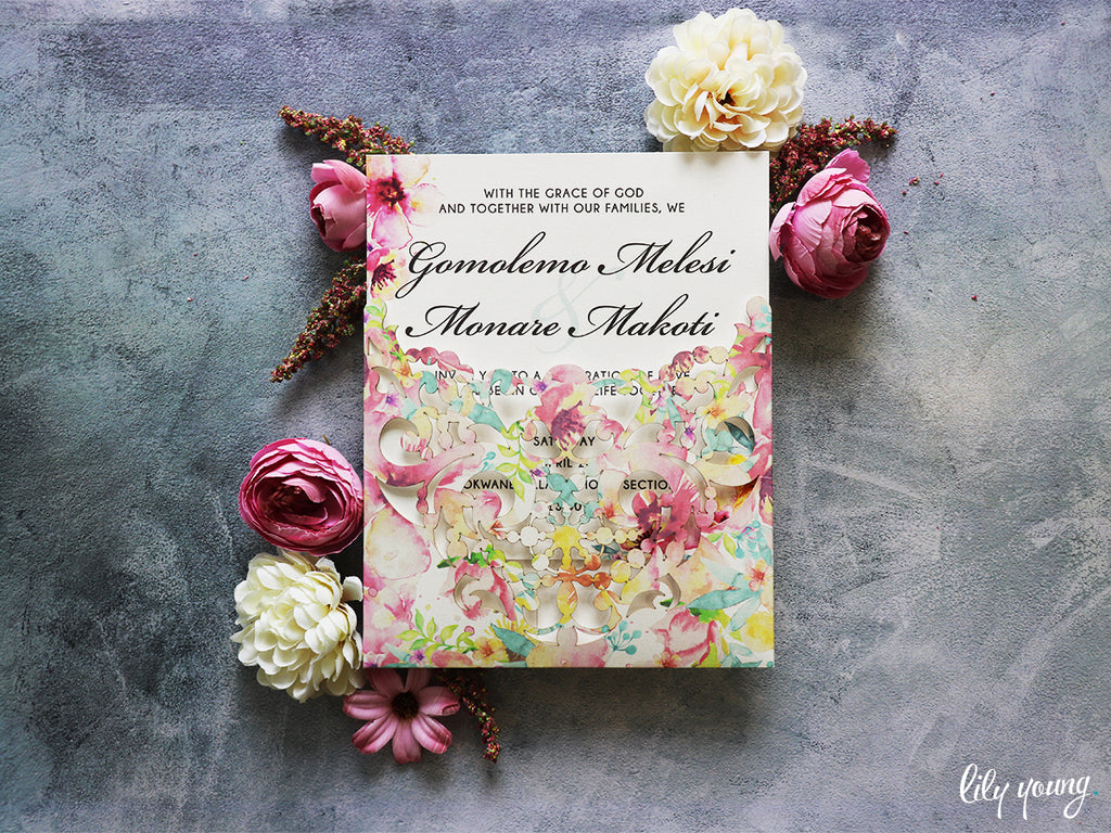 Gomolemo Printed Invitation Suite