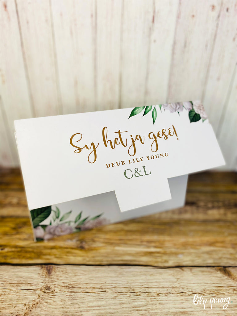 Green Floral Bridal Shower Game Box