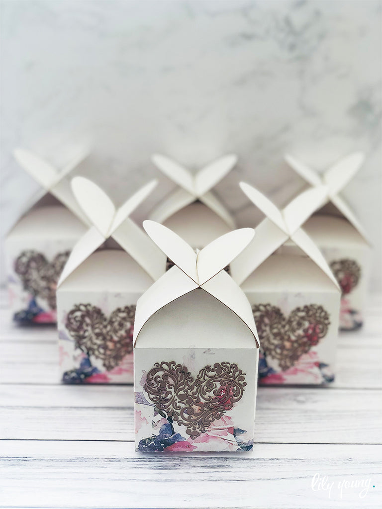 Heart Favour Boxes - Pack of 12