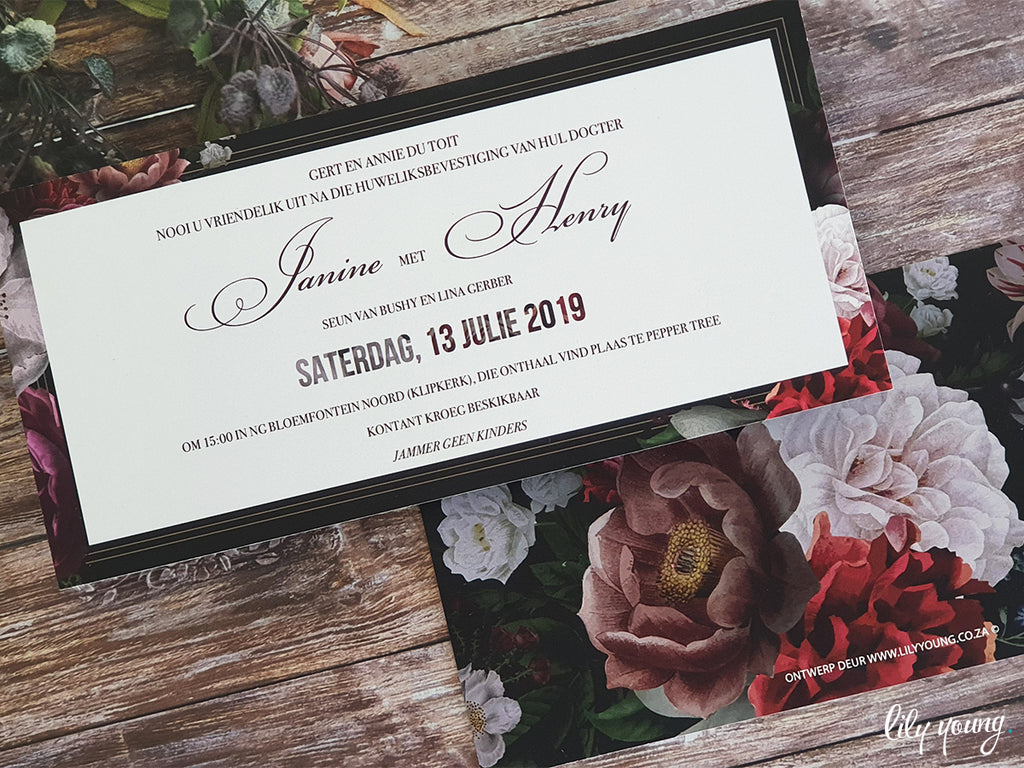 Janine 2 Printed Invitation Suite