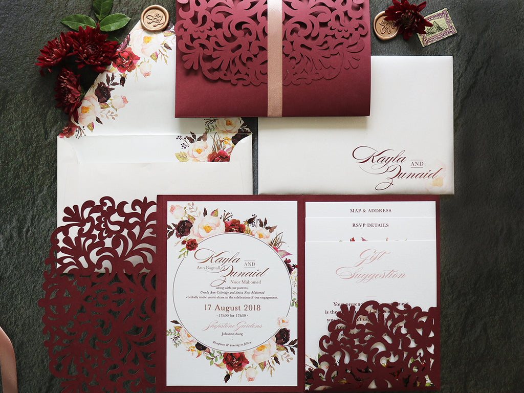 Kayla Printed Invitation Suite