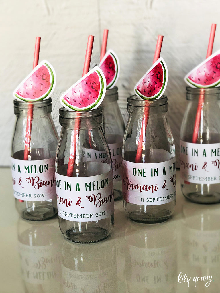 One in a Melon Labels set - Pack of 12