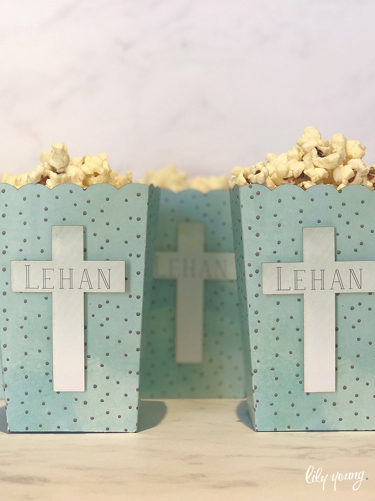 Mint Popcorn boxes - Pack of 12