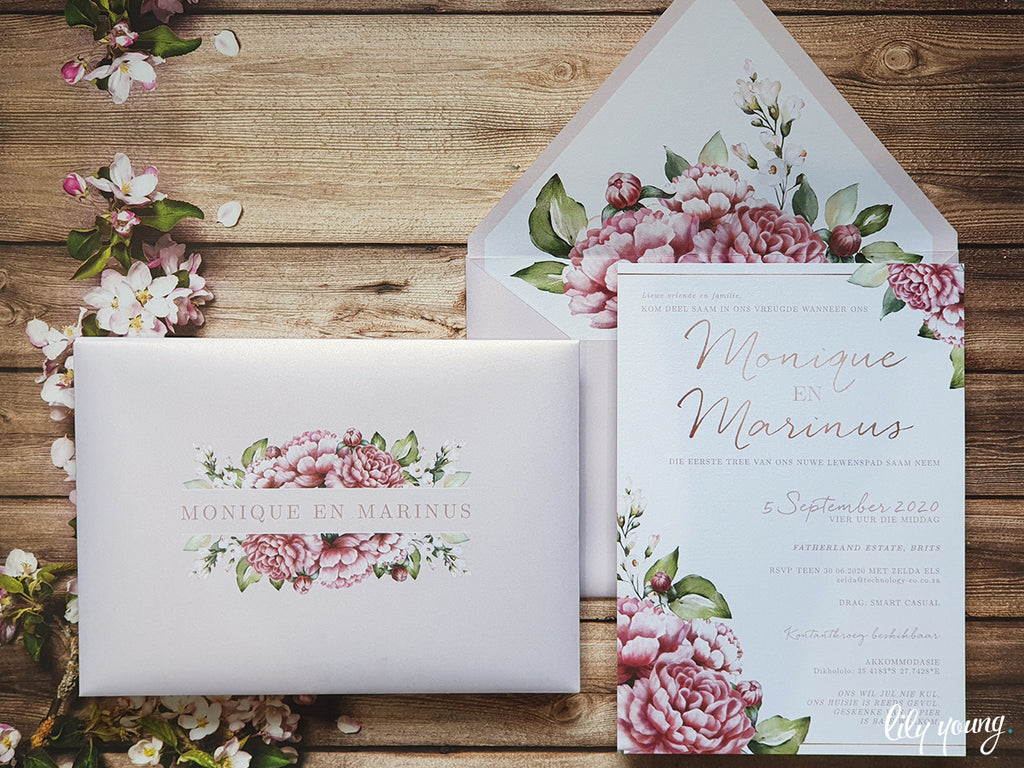 Monique Printed Invitation Suite