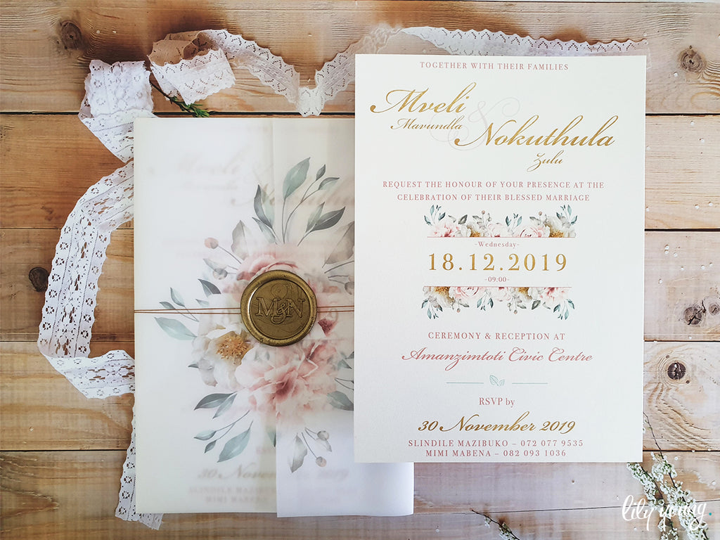 Mveli Printed Invitation Suite