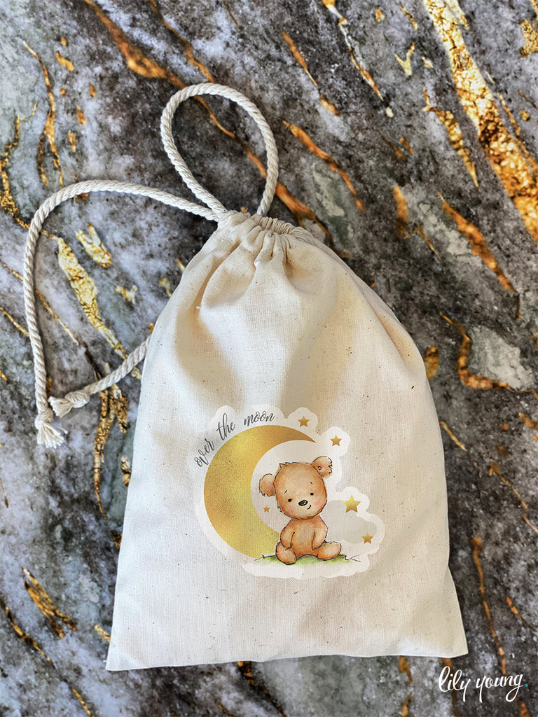 Bear Draw string Bags - Pack of 12