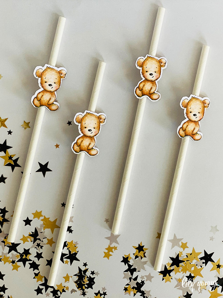 Bear Straw Flag set - Pack of 12
