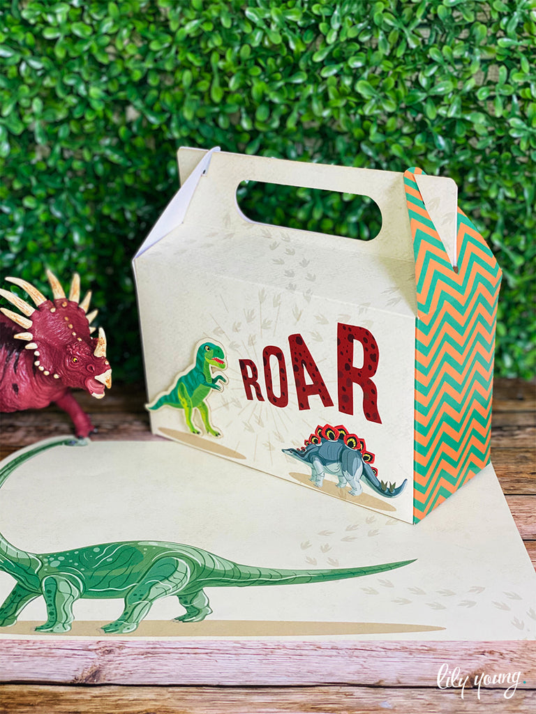 Large Dinosaur Boxes - Pack of 12