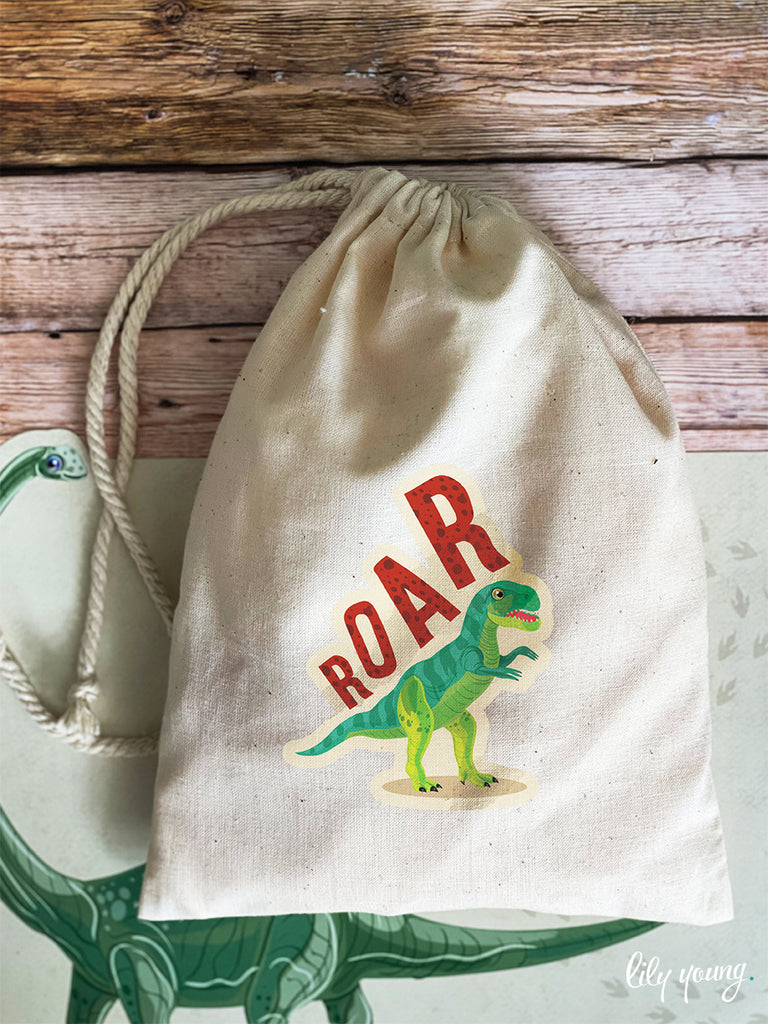Dinosaur Draw string Bags - Pack of 12