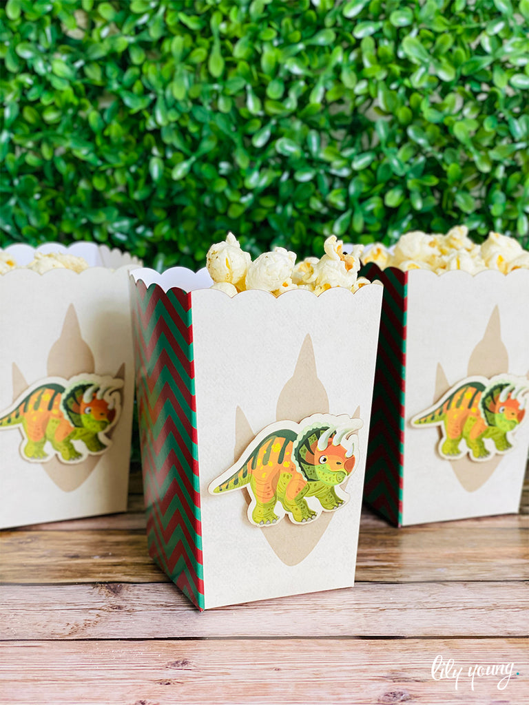 Dinosaur Popcorn boxes - Pack of 12