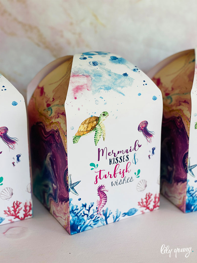 Mermaid Large Party Boxes - Pack of 12