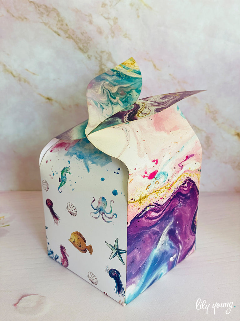 Mermaid Fin Party Box - Pack of 12
