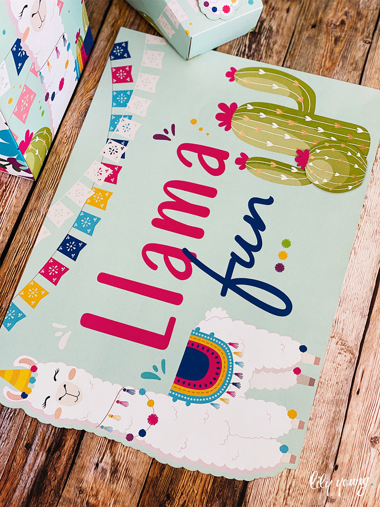 Pink/Blue Llama Party Package
