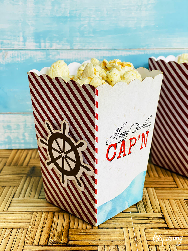 Pirate Popcorn boxes - Pack of 12