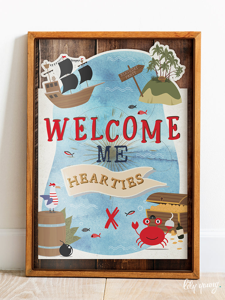 Pirate Welcome Sign - Pack of 1