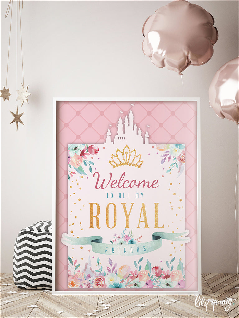 Princess Welcome Sign - Pack of 1