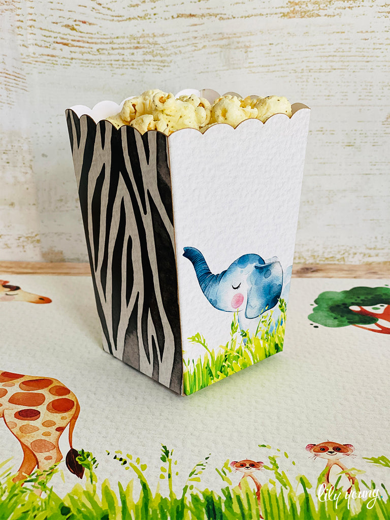 Safari Popcorn boxes - Pack of 12