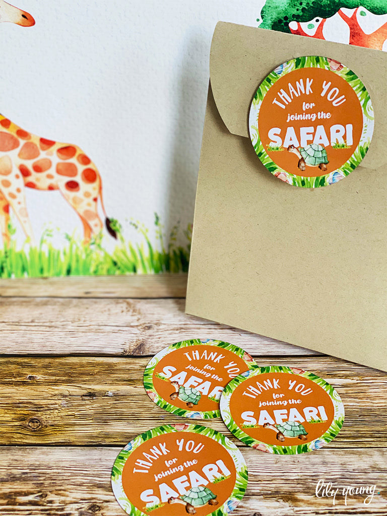 Safari Sticker - Pack of 12