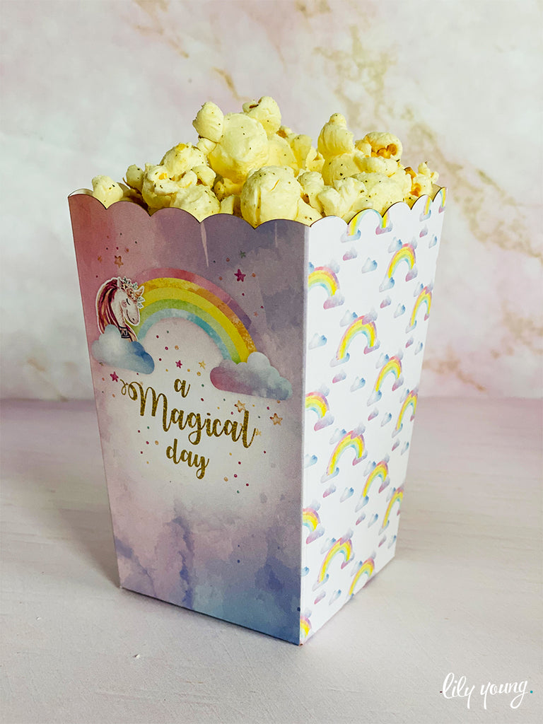 Unicorn Popcorn boxes - Pack of 12