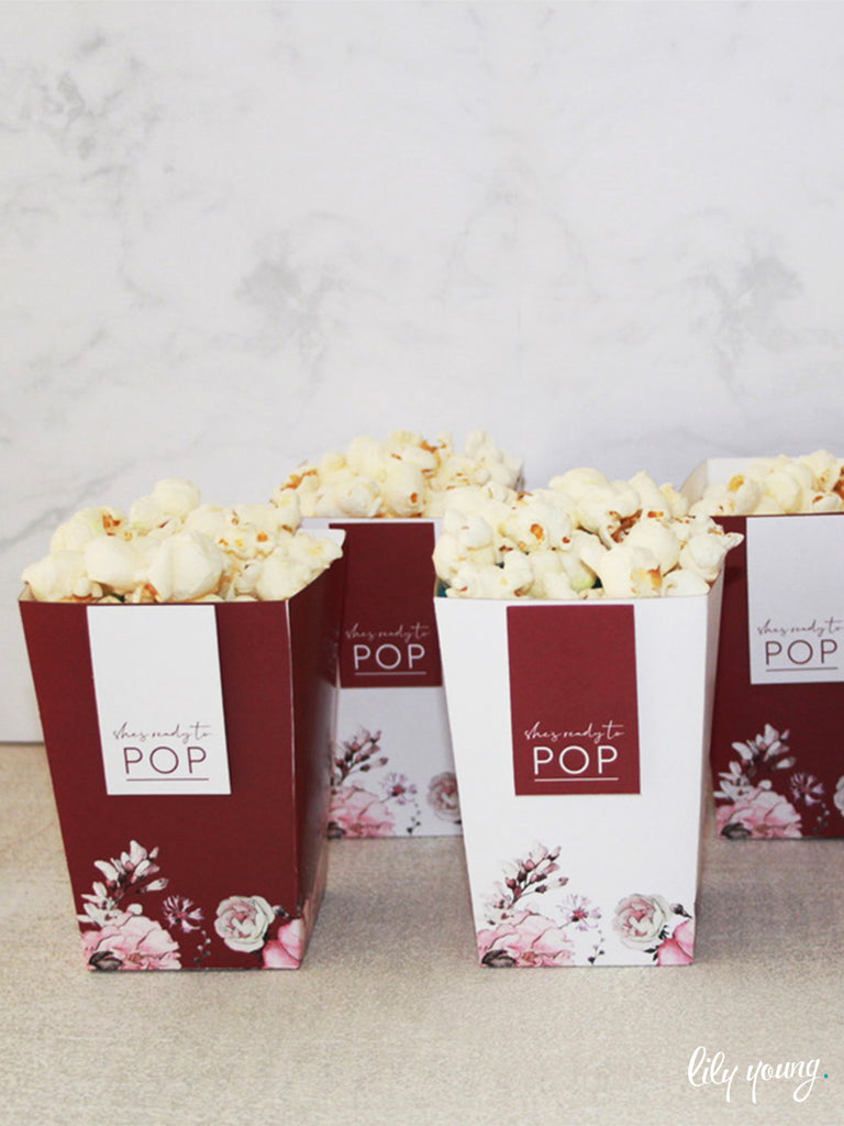 Floral Popcorn boxes - Pack of 12