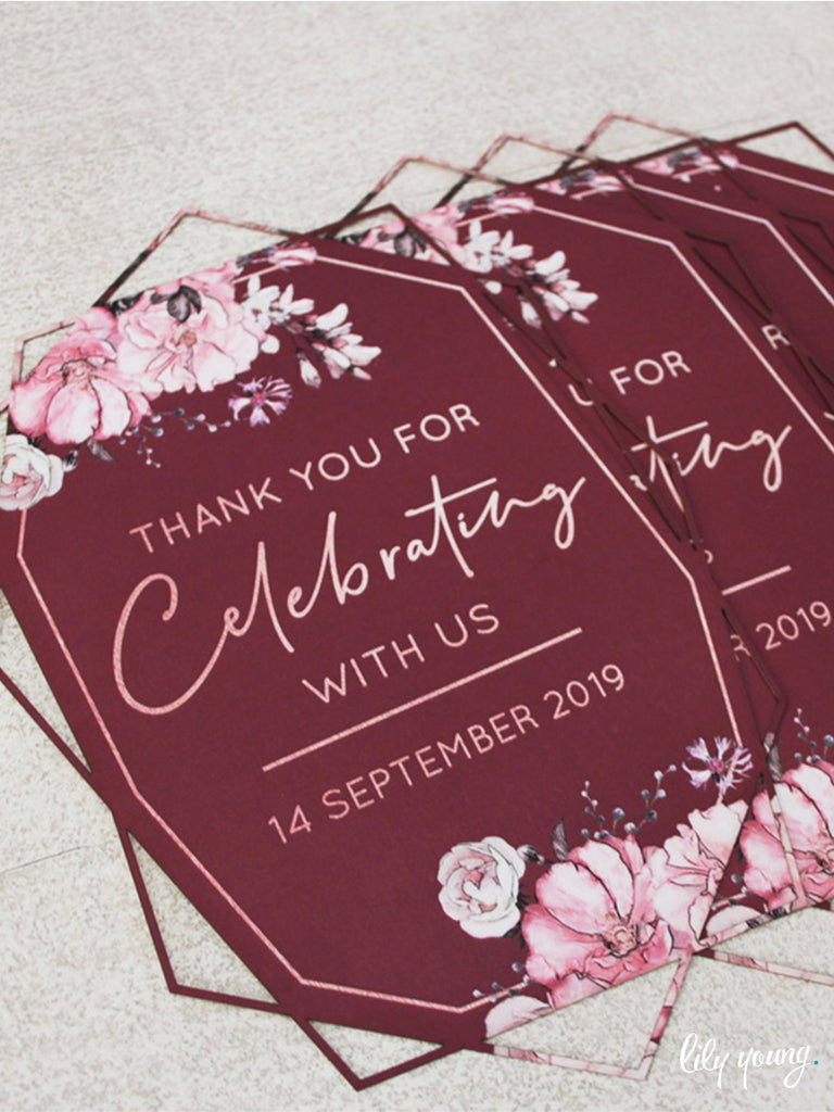 Floral Thank you cards - Pack of 12