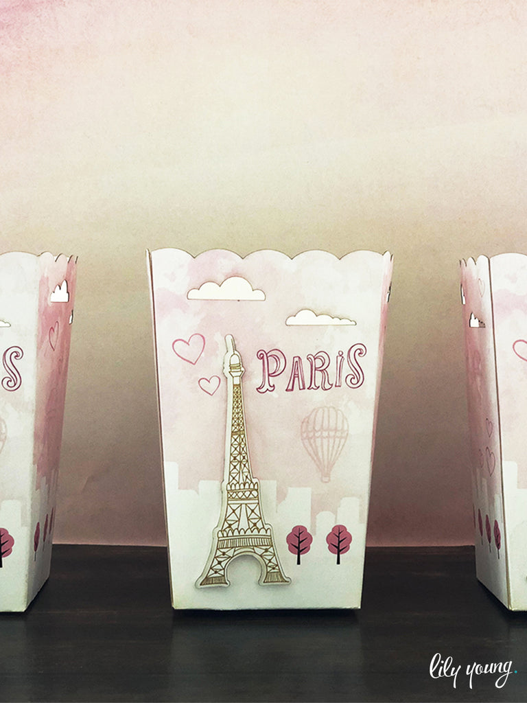 Paris Popcorn boxes - Pack of 12