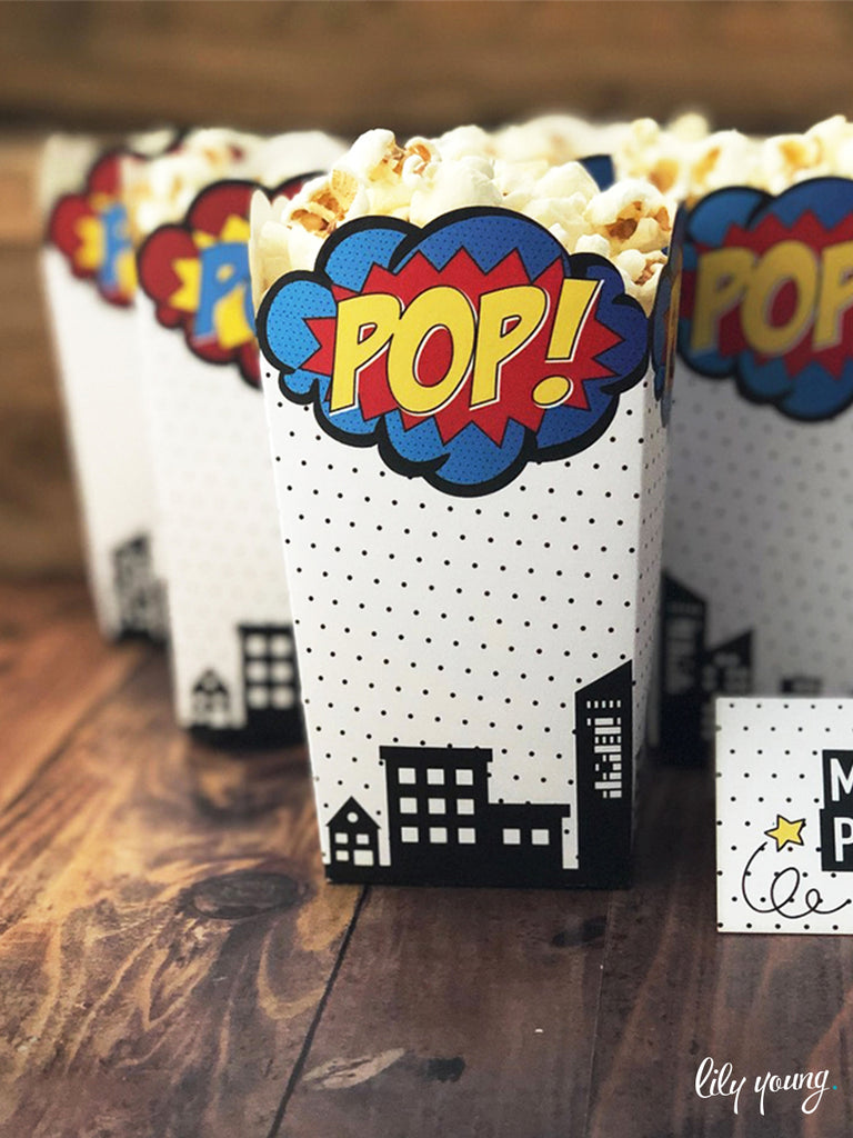 Superhero Popcorn boxes - Pack of 12