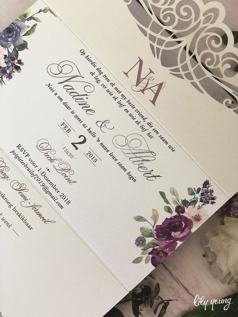 Nadine Printed Invitation Suite