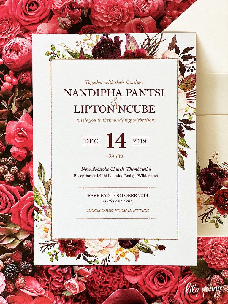 Nandipha Printed Invitation Suite