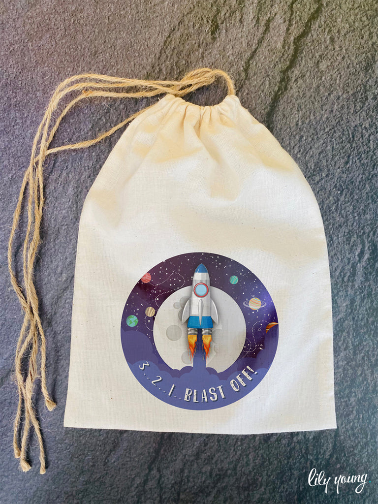 Space Draw string Bags - Pack of 12