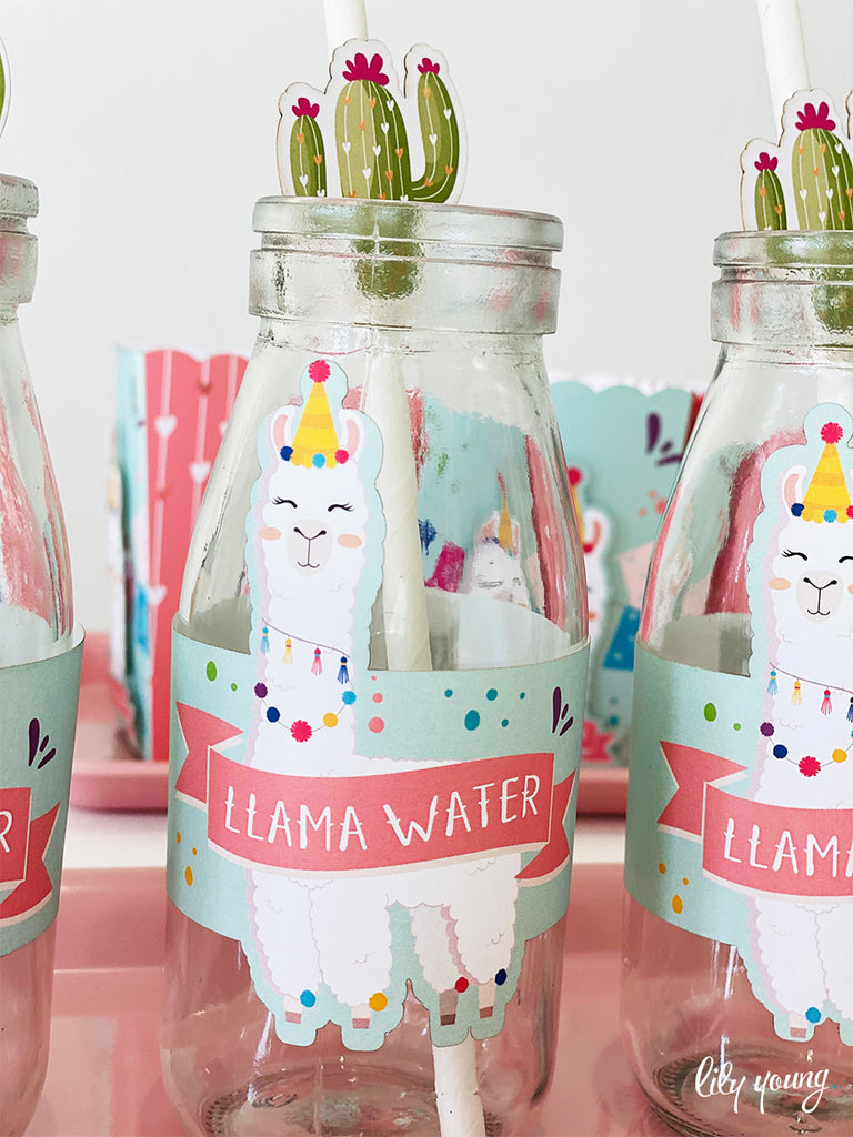 Llama Pink/Blue Labels set - Pack of 12