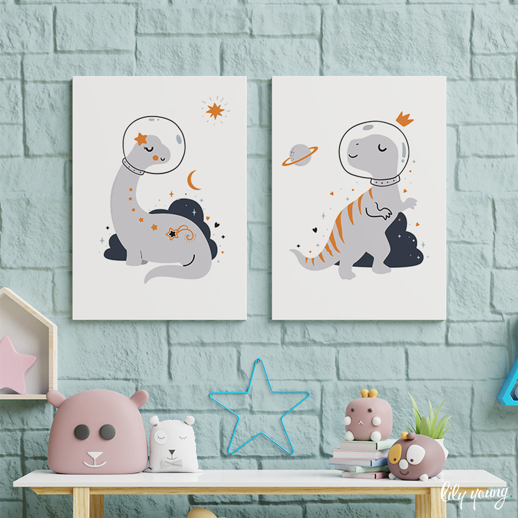 Space Dinosaurs Wall Art