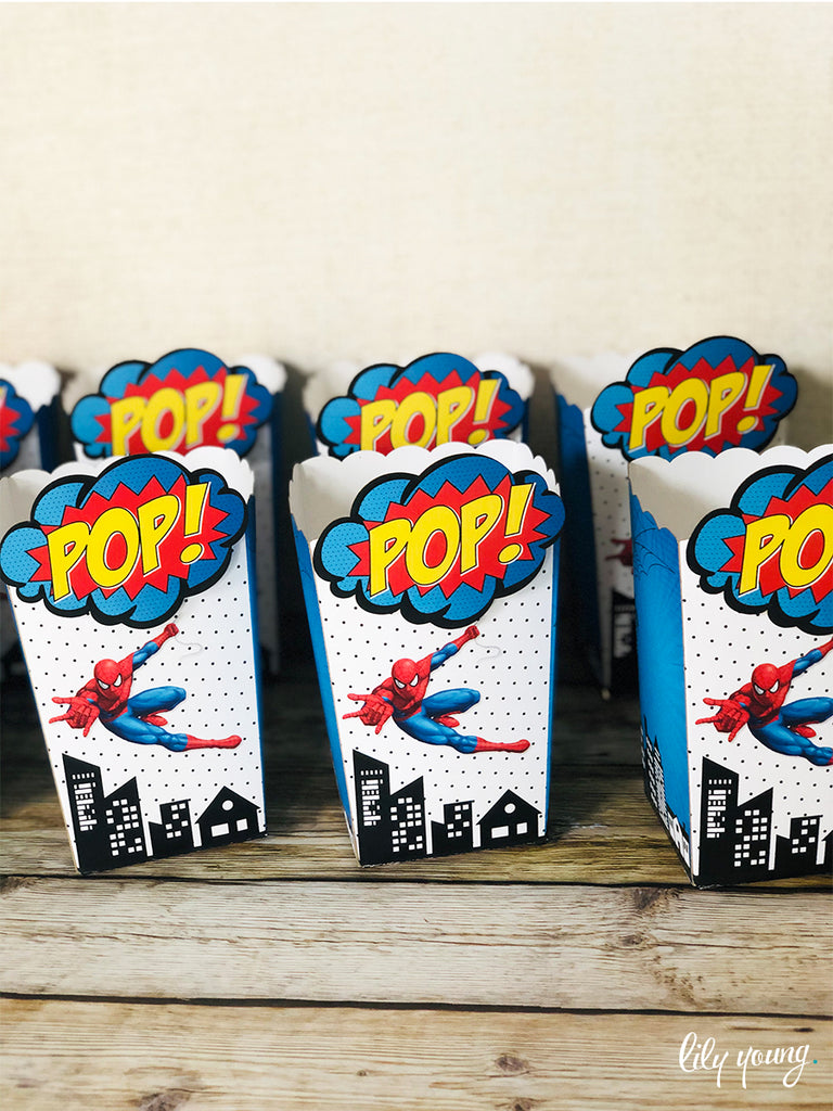 Spider-Man Popcorn boxes - Pack of 12