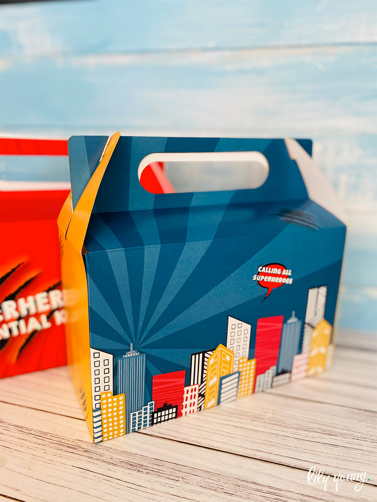 Large Superhero Boy Boxes - Pack of 12