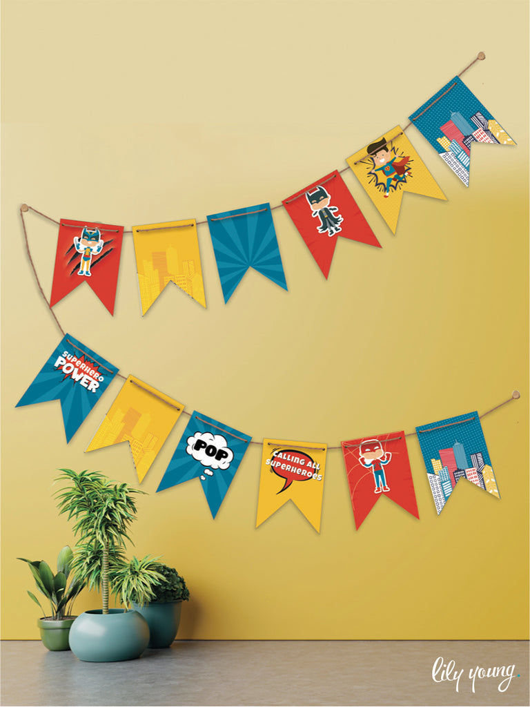 Superhero Boy Bunting - Pack of 1