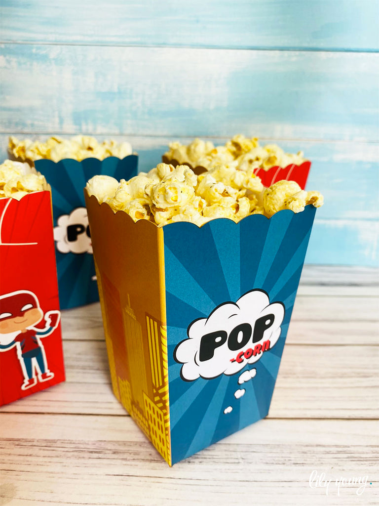 Superhero Boy Popcorn boxes - Pack of 12